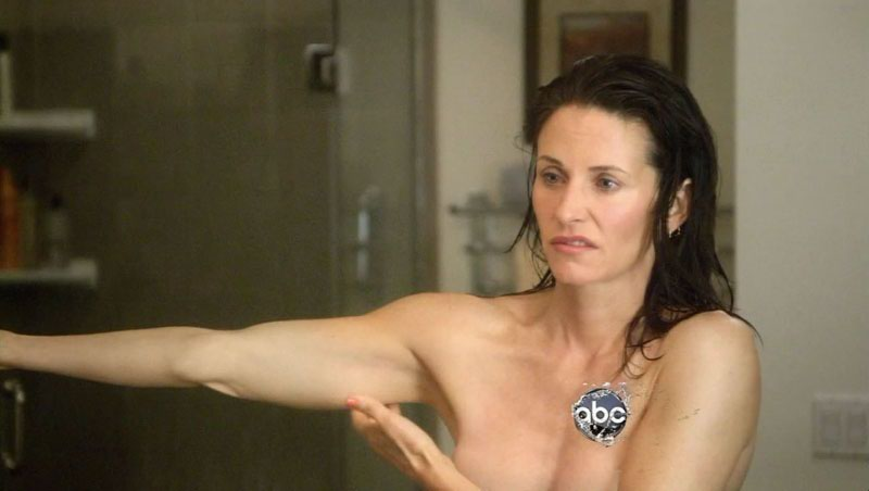 Rather Courtney cox topless words... super